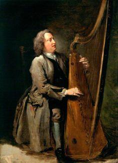 William Hogarth (British, 1697-1764) Portrait of David Lewis, the blind harpist…
