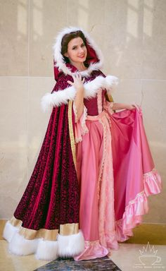 Belle Pink Snow Dress Cosplay Costume for womens is the first Disney princess to sport a Pink Snow Dress. This classic dress is custom made for the perfect fit. Belle Cosplay, Cute Cosplay, Cosplay Dress, Cosplay Outfits, Costume Dress, Cosplay Costumes, Halloween Costumes, Disney Belle Costume, Disney Princess Cosplay