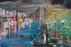 "Saatchi Art Artist Vasi Finegari; Painting, ""by the river"" #art"