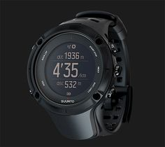 Suunto Ambit3 Peak - This has a GPS built-in. It also tracks speed, pace, & distance plus it has features like a compass, altimeter, weather info, & heart rate monitor—even while swimming. | Werd