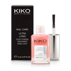 KIKO MAKE UP MILANO: Ultra Long, base de esmalte de uñas con ingredientes estimuladores del crecimiento