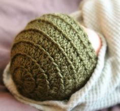 Simply Britney: Preemie crochet hat (don't increase the 4th round like the pattern says). To make newborn size, use a size larger hook.