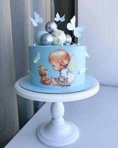 Butterfly Birthday Cakes, Baby Birthday Cakes, Baby Boy Cakes, Cupcakes, Cupcake Cakes, Beautiful Cakes, Amazing Cakes, Christening Cake Boy, Torta Baby Shower