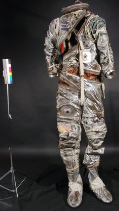 """Spacesuit worn by L. Gordon Cooper during the Mercury MA-9 mission aboard the """"Faith 7"""" capsule May 15/16, 1963. Gordon Cooper, Astronaut Suit, Project Mercury, American Heritage Girls, Kennedy Space Center, Today In History, Air And Space Museum, Nasa Astronauts, The Right Stuff"""