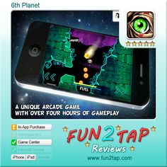 6th Planet - The perfect fusion of gameplay, scaling difficulty, story and music. Full review at: http://fun2tap.com/index.cfm#id247 --------------------------------------  #Apps  #Games #iPad #iPhone #Casualgames