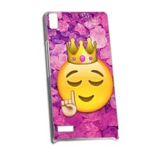 Funny Queen Emoji Hard Protective Shell Skin Cover Case For Huawei P6(China (Mainland))