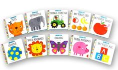 Kids as young as 1 or 2 can absorb numbers, the names of animals, and more with help from this set of 10 sturdy board books