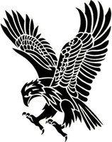 Tribal Eagle Art Print by jsharts Tribal Eagle Tattoo, Tribal Sleeve Tattoos, Eagle Tattoos, Tribal Tattoo Designs, Wolf Tattoos, Hawk Tattoo, Tatoos, Adler Silhouette, Eagle Drawing
