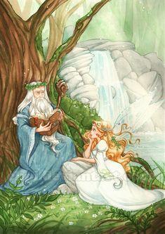 Merlin and Viviane by Chpi.deviantart.com on @deviantART