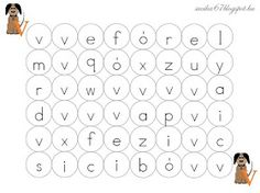 Játékos tanulás és kreativitás: Betűlabirintus: a, i, ó, m, t, s, v, e Word Search, Letters, Teaching, Education, Album, Letter, Lettering, Onderwijs, Learning