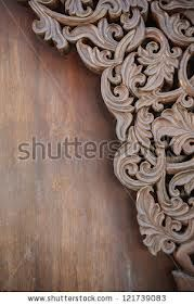wood carving in interiors