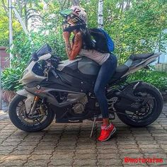 - #Girl & BMW #S1000RR -  #Moto #Motorcycle #Motosiklet #Race #Racing #Cycle #Biker #Custom #Bike #Sportbike #Superbike - #Honda #Yamaha #Kawasaki #BMW #KTM #Ducati #Aprilia #Triumph