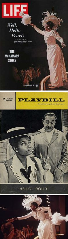 In 1967, Pearl Bailey & Cab Calloway headlined an all-black cast version of Hello, Dolly! The touring version was so successful, producer David Merrick took it to Broadway where it played to sold-out houses and revitalized the long running musical. Bailey was given a special Tony Award for her role and RCA made a second original cast album.