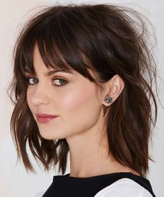 Shoulder Length Hairstyles 2016 with Bangs