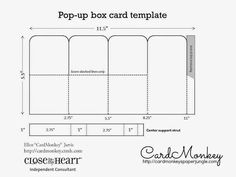 Pop-Up Box Card (step by step + dimensions + lots of pics and video ...