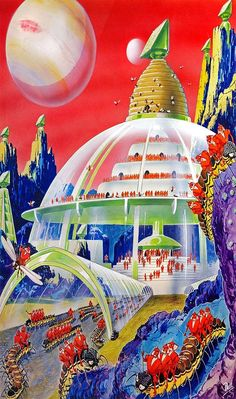 Glass City of Europa by Frank R. Paul