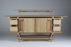 Sideboard, Elling. Designed by Gerrit Rietveld, Holland. 1919.