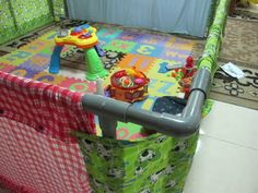 Homemade playpen for the little man :)