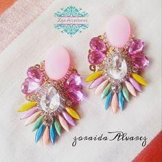 Buenas tardes! ;) #zojaearrings By #zoraidaAlvarez #zojaccessories #handmadeaccesories #newcollection #aretes #moda #women #fashion #instablogger #instafashion #picoftheday