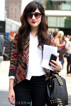 From the-streetstyle.tumblr.com  THE SWEATER WITH THE CLASSIC IS PERFECTION