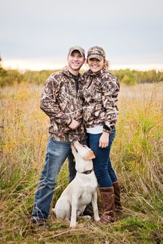 Rustic Minnesota Engagement Shoot by @pamelasutton  with yellow Lab| Two Bright Lights :: Blog