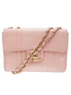 CHANEL VINTAGE logo jumbo bag - handbag, fossil, big, bags, crossbody, hipster purses *ad