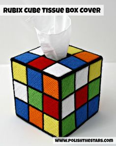 Rubix Cube Tissue Box Cover--- Mommy, please???