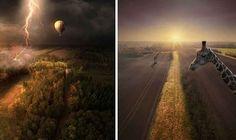 Fotografie aeree uscite dai sogni Trasformare l'immaginazione in arte fotografica non è certamente un compito facile. Servono conoscenze, tempo e naturalmente tanta ma tanta immaginazione e creatività.  Il fotografo Darren Wilden h #drone #fotografia #sogno