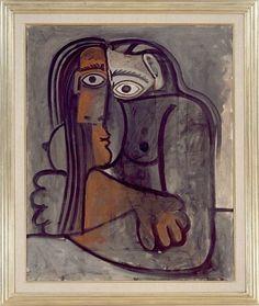 PABLO PICASSO Femme aux Bras Croises, 1960 Oil on canvas