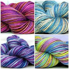 Kitty Grrlz HandSpun Bamboo Yarn of the Month Club including brand new colors, April/May/June club