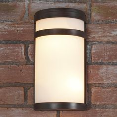 Banded Cylinder Outdoor Light- 2 Light Two Shades of Light $98 12x6 1/2 x 4d