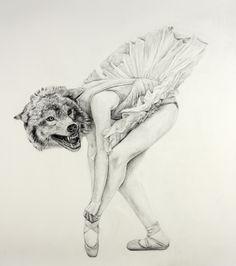 Ballerina Wolf by Cynthia Consentino