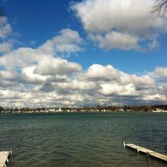 Simonton Lake, Elkhart, IN. One of the best and biggest sandbars ever for parking the pontoon and partying the day away with your family and friends. Elkhart Indiana, South Bend, Great Memories, Bristol, Michigan, Places To Visit, Clouds, Park, Friends