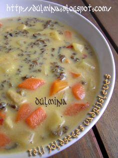 Dulmina tündérkonyhája: Téli zöldséges vadrizsleves (lakto-vega) Cheeseburger Chowder, Soup, Soups