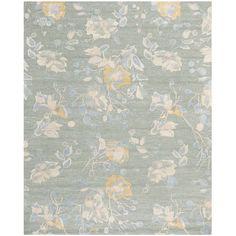 Safavieh Handmade Jardin Silver/ Blue Wool Rug (8' x 10')