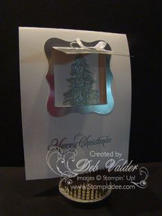 Peekaboo Card using Evergreen with Deb Valder by djlab - Cards and Paper Crafts at Splitcoaststampers