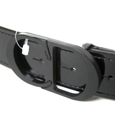 DIOR HOMME $465 men's black patent leather metal CD logo buckle belt 41/105 NEW #DiorHomme