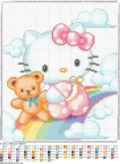 SCHEMI PUNTO CROCE Hello Kitty