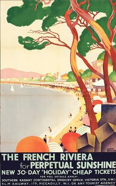 Roger Broders (1883-1953), 1930, The French Riviera for perpetual sunshine.