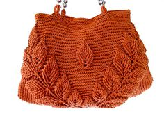 Brown knit purse by propuestaunica on Etsy