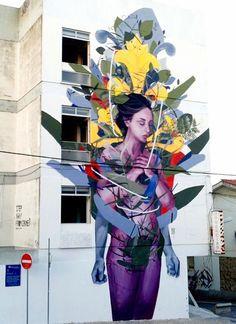 by Bosoletti in Cascais, Portugal, 7/15 | Street Art | Street Artists | Art | urban art | urban artists | modern art | mural | graffiti | travel | Schomp MINI