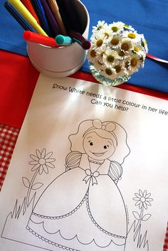 ok so not for a boy but love the idea of printable colouring pages
