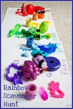 Rainbow scavenger hunt!