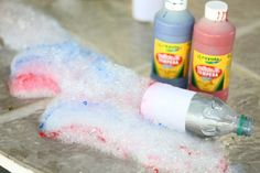 Red, White & Blue Bubble Snakes - I Can Teach My Child!