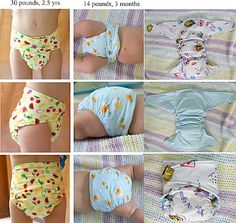 Cloth baby diapers. I have made a few of these and they are incredibly easy! Will fit a range of sizes, even tried them on a 2 1/2 yo and they fit! They will need a cover. I suggest stuffing them with an Indian cotton prefold