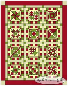 Apple Avenue Quilts: 2013 FREE Block of the Month Links are provided for each block represented in the quilt. General instructions and fabric requirements to the finishing instructions of the quilts. Easy Quilt Patterns, Patchwork Patterns, Pattern Blocks, Quilt Sets, Quilt Blocks, Patch Quilt, Quilting Quotes, Quilt Border, Sampler Quilts