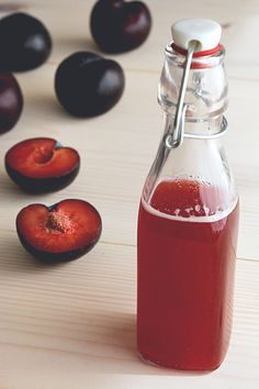 Finally, a use for those overripe plums! Ingredients: 1/2 cup chopped plums (tightly packed) 1/2 cup sugar 1/4 cup red wine vinegar 1/4 cup apple cider vinegar