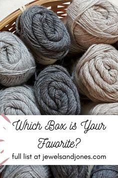 Crochet subscription boxes are yarn deliveries that come monthly or quarterly. There's a wide variety of different yarn boxes you can choose from, these yarn box options include yarn kits, crochet along's (CAL's), premium hand-dyed yarns, or yarn goodies. #crochet #yarnideas #yarn #subscriptionboxes #crochetideas