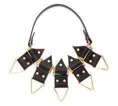 Anubis Black Leather Necklace
