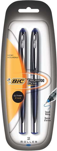 2 Count Bic Roller Ball Pen (Set of 6)